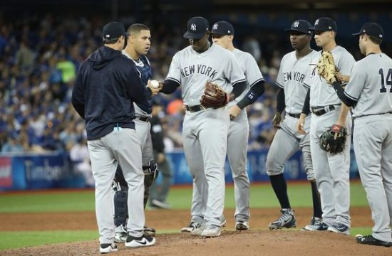 Luis Severino gets the hook,. Photo credit: Forbes