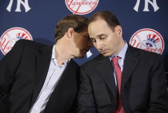 Hal Steinbrenner & Brian Cashman - Blending Perfectly Photo Credit: The Captain's Blog