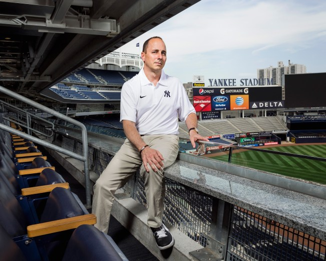 Brian Cashman, Yankees Stealth Bomber (Photo Credit: Greedy Pinstripes)