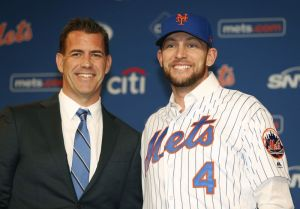 Jed Lowrie and Brodie Van Wagenen (Photo Credit: New York Daily News)