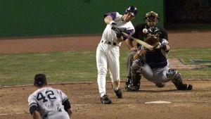 Luis Gonzalez Bloop Hit Off Mariano Rivera (2001) Photo Credit: Newsday