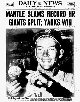 Daily News back page dated April 18, 1953..