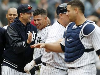 Aaron Boone & Gary Sanchez Connect (Photo: northjersey.com)