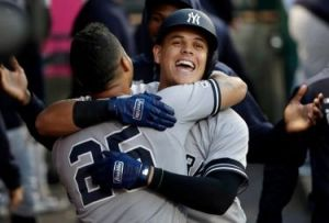 Gio Urshela, First Home Run As A Yankee (Photo: North New Jersey.com)