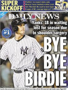 Greg Bird - A Baseball Story (Photo: New York Daily News)