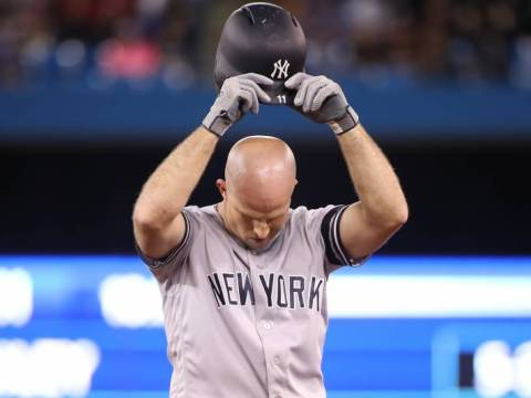 Brett Gardner - Frustration (photo: Tom Szczerbowski/Getty Images)