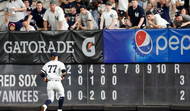 Bad Fielding Day For Clint Frazier (Photo: AP)