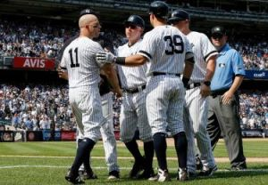 Brett Gardner ejected for dugout antics 8/17/19 (Photo: New York Times)