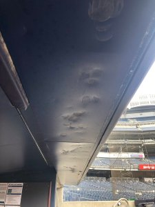"Brett Gardner's ""Artwork"" In The Yankees Dugout (Photo: Twitter)"