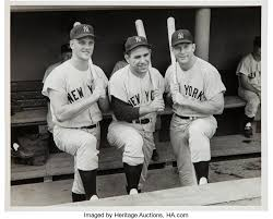 Maris, Berra, Mantle - the 1961 Yankees (Photo: sports.ha.com)