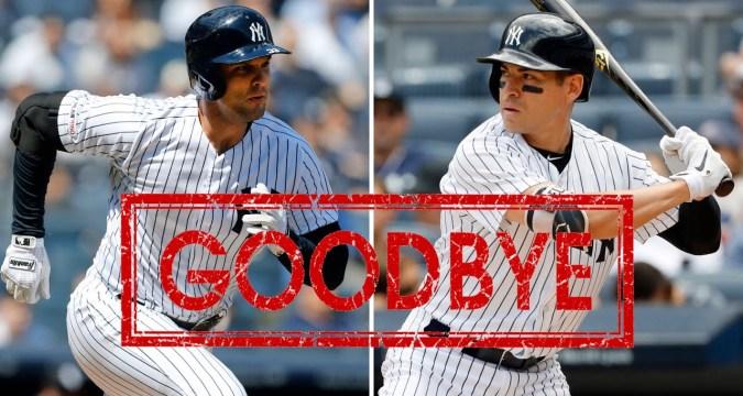 Say goodbye - Jacaoby Ellsbury and Greg Bird (Photo: youtube.com)