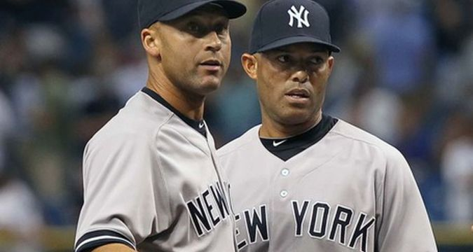 Jeter and Rivera - so close and yet so far different (Photo: pinstripealley.com)