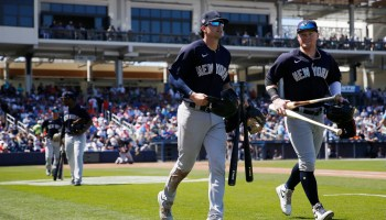 Tyler Wade Clint Frazier still at Yankees camp (Getty Images)