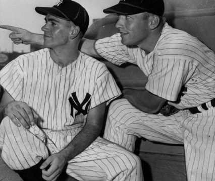 Mickey Mantle and Bob - Yankee Teammatesby Richardson