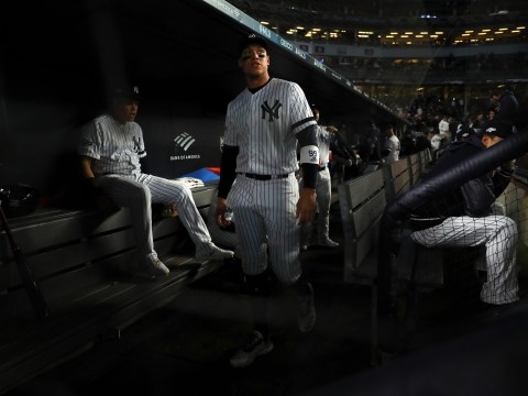 Aaron Judge - New York Yankees Dugout