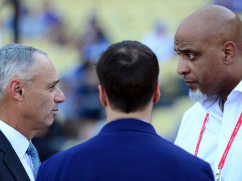 Rob Manfred and Tony Clark Hammer It Out (CBS Sports)
