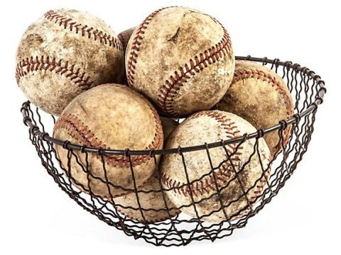Yankees Baseballs In The DJ LeMahieu Basket