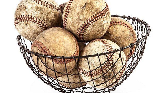 Yankees Baseballs In The DJ LeMahieu Basket
