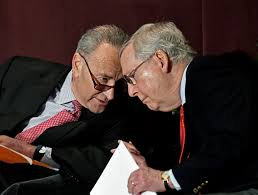 In bed together - Senators Schumer and McConnell (NPR)