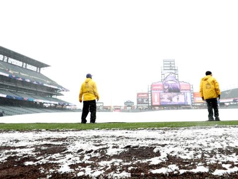 Mets Game in Denver snowed out