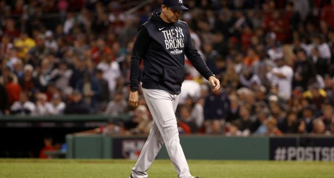 Yankees Aaron Boone Walking Off To...(Getty Images)