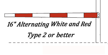 Reflective Tape for Gate Arms and Railroad Crossings
