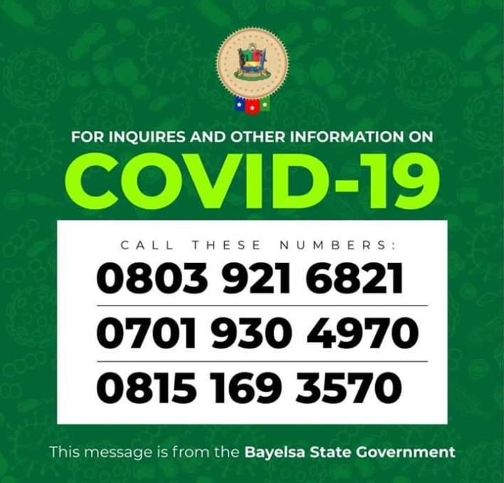 COVID-19: Bayelsa Extends Lockdown