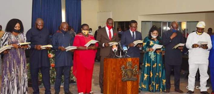 Ben Ayade swears-in council chairmen with N11.38 billion take off fund