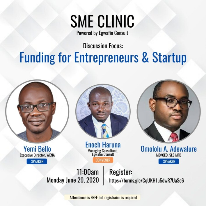 SME Clinic: Funding for Entrepreneurs and Startup, Register Now