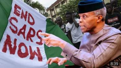 #EndSARS: We are Sorry, Vice President Osinbajo Apologies