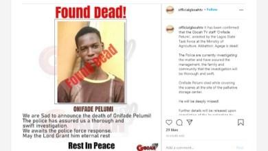 Journalist Found Dead After Police Arrested Him at Palliative Storage Site