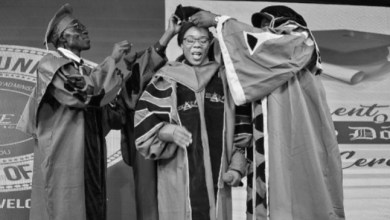 Photo of Nigerian Dancer, Kaffy decorated Honorary Doctorate Degree in Republic of Benin