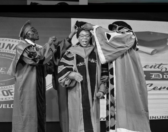Nigerian Dancer, Kaffy decorated Honorary Doctorate Degree in Republic of Benin