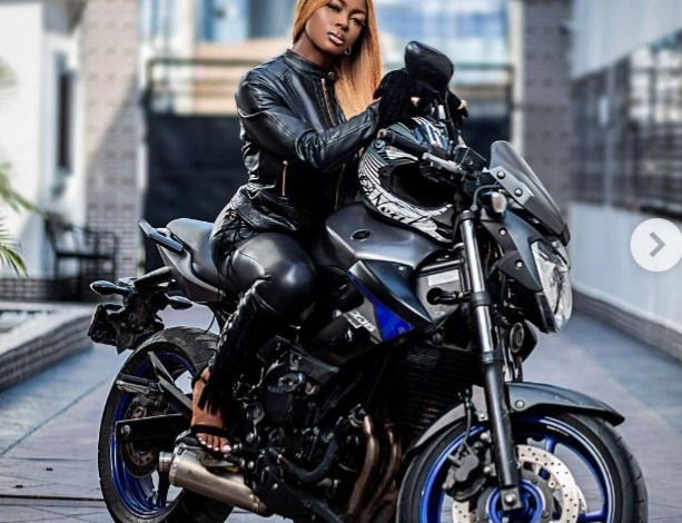 Ka3na Shares Biking Skills on All Black-Outfit, Dares Ex-Housemates Says She Means Business