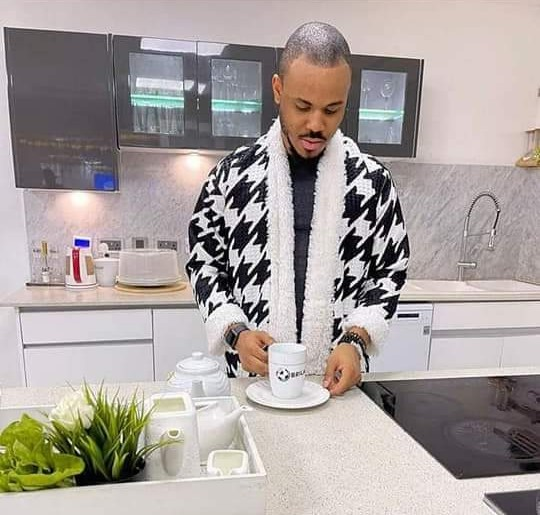 See Who Ozo Prepares Breakfast For in his Lovely Pyjamas [Photo]