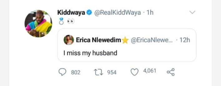 Kiddwaya May Engage Erica Soon As He Retweets With Ring Emoji [Twitter]