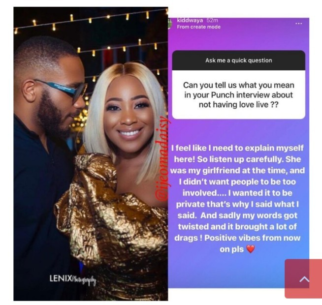 Kiddwaya Says Erica is Not His Bae Anymore, Just Wants Positive Vibes
