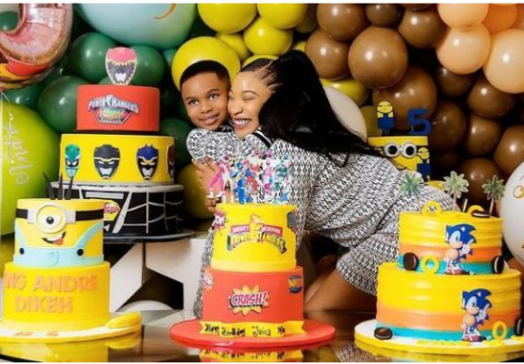 Tonto Dikeh Gifts Her 5-year Old Son 2 Acres of Cashew Plantation