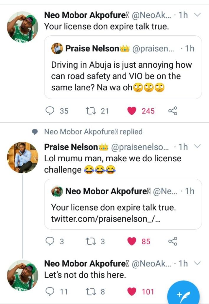 Praise Calls Neo 'Mumu Man' Drags Him for License Challenge