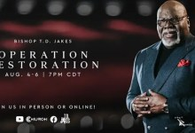 Live Service of T D Jakes Operation Restoration For 6 August 2021