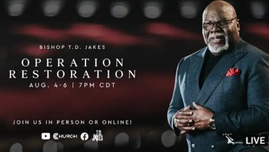 Bishop TD Jakes Operation Restoration Friday 6 August 2021 - Live Stream
