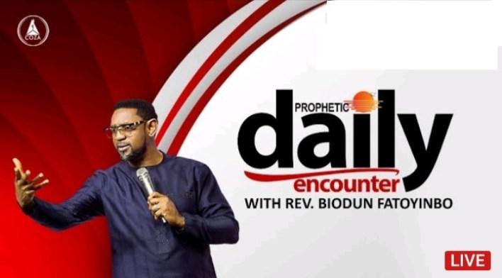 Join Biodun Fatoyinbo Daily Prophetic Encounter 19 August 2021