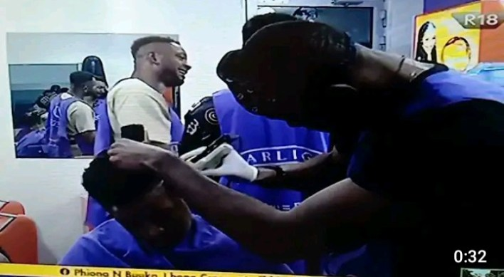 Emmanuel Shaves Liquorose in BBNaija, As They Prepare for Eviction