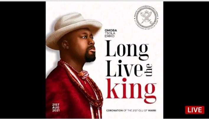 Live Streaming Coronation 21st Olu of Warri  LONG LIVE THE KING 