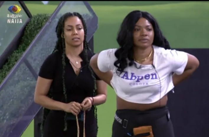BBNaija Maria Angry at Liquorose, Reject Her Offer to Watch Movie