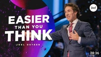 Live Joel Osteen Daily Message 24 August 2021 |EASIER THAN|