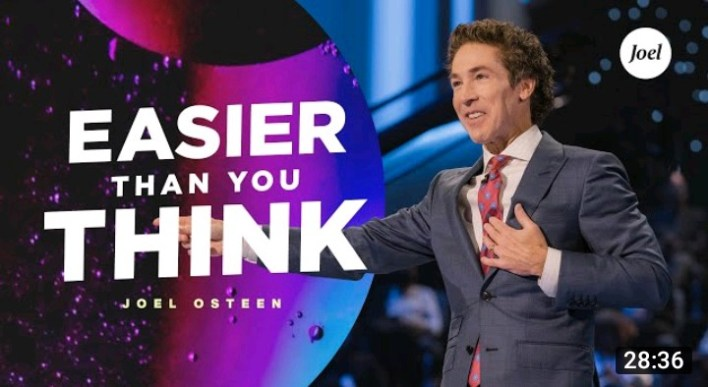 Live Joel Osteen Daily Message 24 August 2021  EASIER THAN 