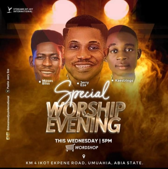 Watch Jerry Eze 25 August 2021 Special Evening Worship with Moses Bliss