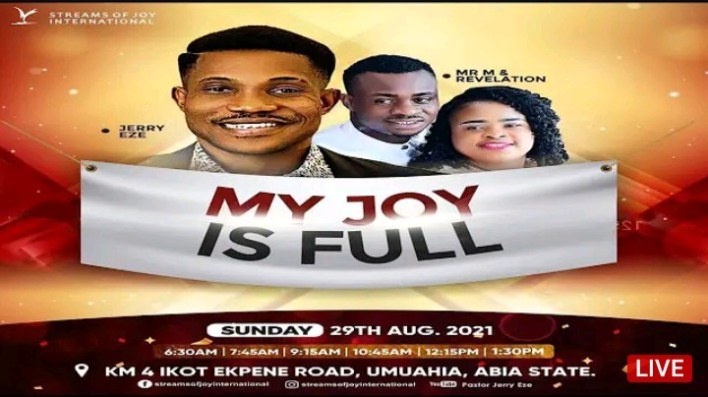 Live NSPPD Jerry Eze Sunday Service 29 August 2021 |MY JOY IS FULL|