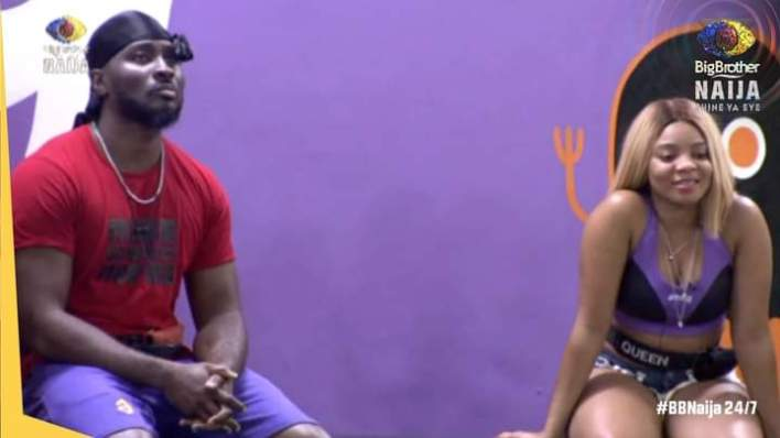BBNaija Pere Puts Up Queen, Saves Himself From Possible Eviction
